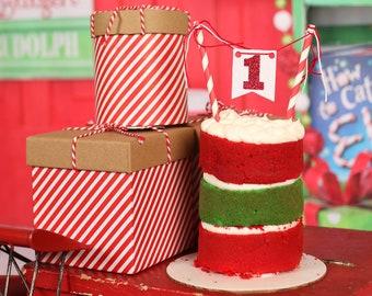 One cake topper, number cake topper, smashcake topper, Christmas cake topper, First Birthday cake topper