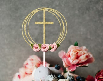 Easter Cake Topper, cake topper, Easter party, Cake topper, Cross cake topper, communion cake topper, baptism cake topper