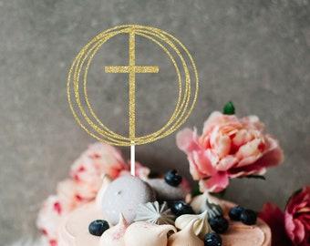 Easter Cake Topper, cake topper, Easter party, Cake topper, Cross cake topper, communion cake topper, baptism cake topper