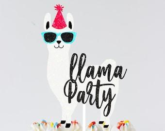 Llama cake topper, llama birthday cake topper, Llama face cake topper Lllama party, Lama cake topper, Llama party decor