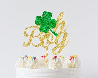 oh baby cake topper, oh boy cake topper, Irish cake topper, Irish gender reveal cake topper, gender reveal cake topper, shamrock cake topper