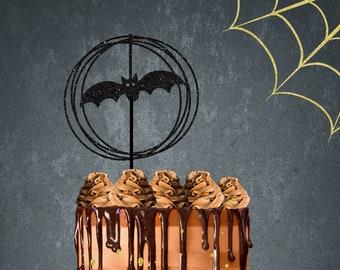 Halloween cake topper, Halloween party, Halloween cake, Halloween, Circle cake topper, Bat cake topper