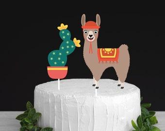 Llama cake topper, llama birthday cake topper, Lllama party, Lama cake topper, Lama birthday cake topper, Llama party decor