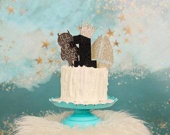 Wild one cake topper, crown cake topper, One cake topper, Wild one party, Wild one Party decor, smashcake topper, first birthday cake topper
