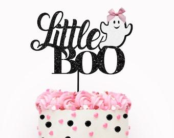 Halloween cake topper, Little Boo cake topper, halloween party, spooky cake topper, pink Halloween cake topper, halloween, girly halloween