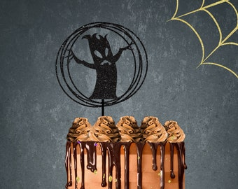 Halloween cake topper, happy Halloween cake topper, Halloween party, Circle cake topper, Bat cake topper, boo cake topper