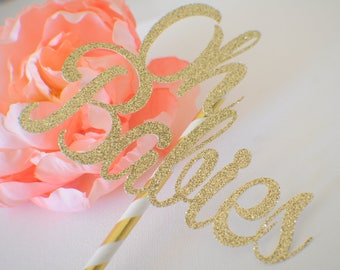 Oh babies cake topper, baby shower cake topper, new baby cake topper, oh baby cake topper, twin cake topper