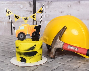 Construction Cake Topper, Construction truck cake topper, construction party, dump truck cake topper, dump truck party