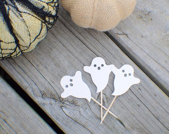 Ghost Cupcake topper, Halloween cupcake, Halloween Party, Boo cupcake topper