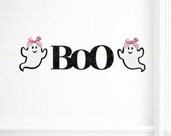 Halloween ONE banner, ghost banner,, halloween party, Halloween garland, pink Halloween garland, pink halloween, girly halloween