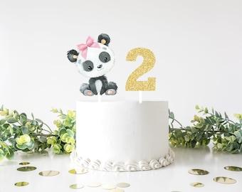 Panda cake topper, Panda topper, Panda party, cake topper, babyshower cake topper, smashcake topper, birthday cake topper, Panda theme