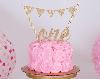 One Cake Topper, First birthday cake topper, ONE Smash Cake Set, smashcake topper, gold one cake topper, birthday cake topper