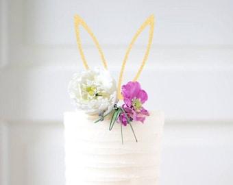 Bunny ears cake topper, bunny cake topper, Bunny Face Cake Topper, Easter cake topper, Happy easter cake topper, easter bunny cake topper