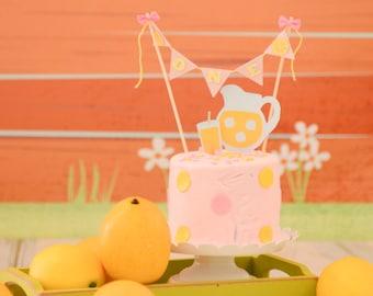 Lemonade Stand Cake Topper, lemonade cake topper, lemonade party, lemon cake topper, tutti frutti cake topper, smashcake topper