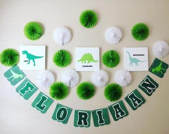 Dinosaur Birthday banner, Dinosaur banner, Dinosaur party, Dinosaur