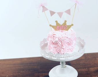 Princess cake topper, princess smash cake topper, princess party, tiara cake topper, crown cake topper