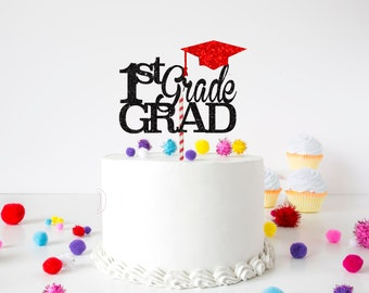 Graduation cake topper, grad cake topper, graduate decoration, kindergarten graduation, first grade graduation cake topper, elementary