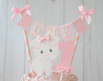 Pig cake topper, Barnyard Cake Topper, farm cake topper, animal cake topper, barn party, farm party, farm animals cake topper,