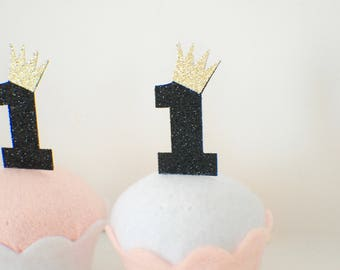 Wild one cupcake toppers, crown cupcake topper, One cupcake topper (12 toppers) Wild thing Party