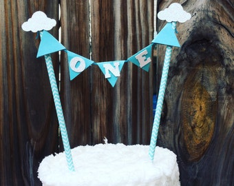Clouds Cake Topper, cake topper, smashcake topper, first birthday cake topper, airplane cake topper, balloon cake topper