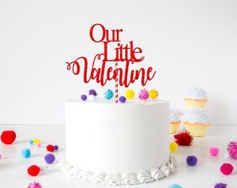 Our little Valentine cake topper, valentines cake topper, first birthday cake topper, smashcake topper, Valentine