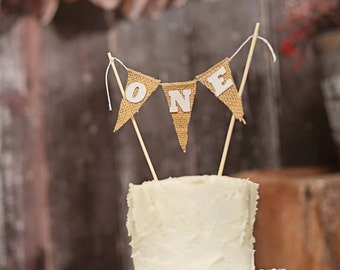 Burlap Cake Topper, Country chic cake topper, country cake topper