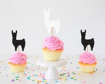 Llama Cupcake Topper, Lama Cupcake topper, Alpaca Cupcake topper, Llama party, Alpaca Party