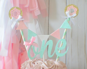 Donut cake topper, Donut grow up cake topper, Donut party, donut first birthday, cake topper, donut picks, first birthday cake topper
