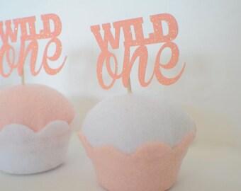 Wild one Cupcake topper, Wild one party, boho cupcake topper, boho party, wild one party