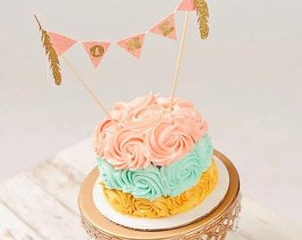 BOHO Cake topper, dream catcher cake topper, smashcake topper, first birthday cake topper