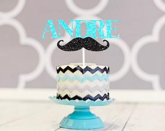 Mustache cake topper, onederful cake topper, smashcake , mustache bash cake topper, gentleman cake topper, first birthday cake topper