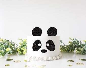 panda Face Cake Topper, Panda cake topper, cake topper, birthday cake topper