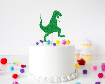 Dinosaur Cake Topper, Custom Dinosaur Cake Topper, T-rex Cake Topper