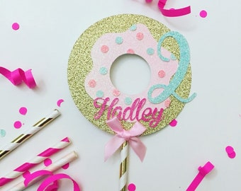 Donut cake topper, Donut grow up cake topper, Donut smas cake topper, smash cake topper, one cake topper, Donut party, donut first birthday