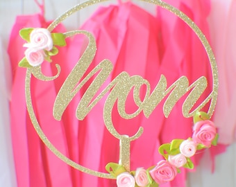 Mothers Day cake Topper, mom cake topper, Mother's day cake topper, Mothersday party decor