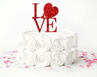 Valentine Cake topper, Valentines day cake topper, Valentines Day party, Valentines day, love cake topper, heart cake topper