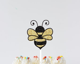 Bee Cake topper, bee topper, Birthday cake topper, Age cake topper, smashcake topper, first birthday cake topper, bee party