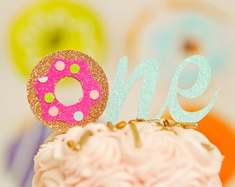 Donut cake topper, Donut grow up cake topper, Donut smash cake topper, smashcake topper, doughnut cake topper, donut party
