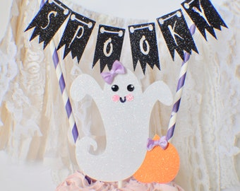 Halloween cake topper, ghost cake topper, halloween party, pumkin cake topper, spooky cake topper