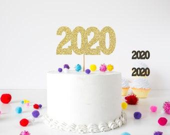 2020 cake topper, 2020 cupcake topper, cake topper, new year cake topper, new year cupcake topper, new years party