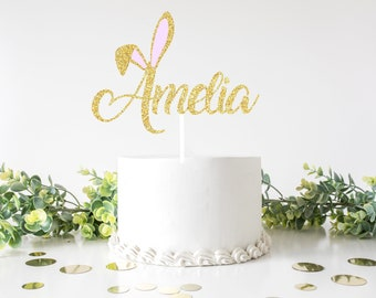 Some bunny is one cake topper, name Cake Topper, Easter cake topper, smash cake topper, easter bunny cake topper, bunny cake topper,