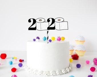 Graduation cake topper, grad cake topper, graduate decoration, prom, class of 2020  graduation topper,cake topper, quarantine cake topper