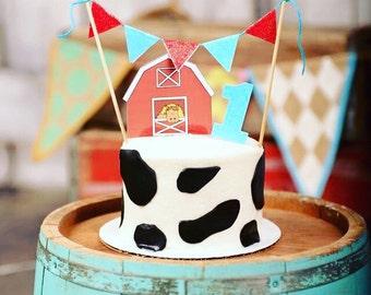 Barnyard Cake Topper, farm cake topper, animal cake topper