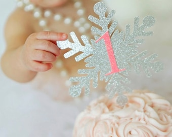 snowflake topper, snowflake cake topper, One cake topper, Winter Wonderland cake topper, smashcake topper, first birthday cake topper