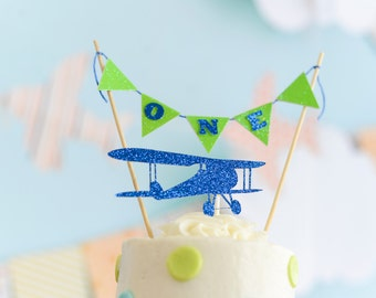 Airplane Cake topper, bi plane cake topper, Airplane party, first birthday cake topper, birthday cake topper