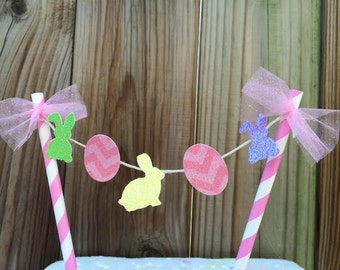 Easter Cake topper/bunting Easter bunny