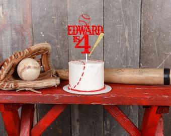 Baseball cake topper, One Cake Topper, Smashcake Topper, First Birthday Cake Topper, sports cake topper, first birthday cake topper