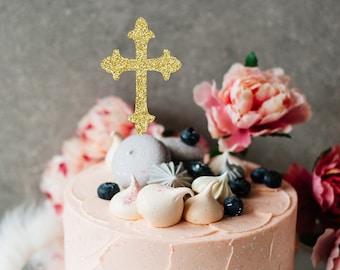Cross cake topper, Baptism cake toper, Holy communion cake topper, Christening cake topper, Christening, Communion, easter cake topper