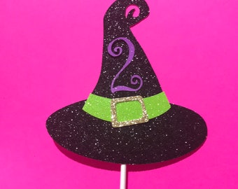 Little witch cake topper, witch cake topper, Halloween Party, Halloween birthday,  cute witch cake topper