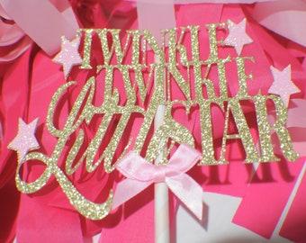 Twinkle twinkle little star cake topper, First birthday cake topper, ONE Smash Cake Set, star cake topper, twinkle little star cake topper